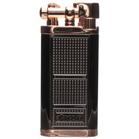 Lighters Xikar Pipeline Soft-Flame Lighter Black and Rose Plated