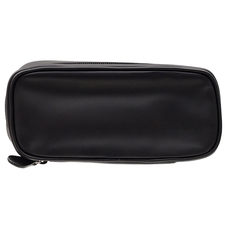 Pipe Accessories Castello Leather 2 Pipe Tobacco Pouch Black