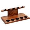 Pipe Accessories Neal Yarm Tilt Head 5 Pipe Stand Mahogany