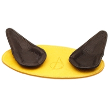 Pipe Accessories Claudio Albieri 2 Pipe Leather Magnetic Stand Yellow/Dark Brown