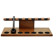 Pipe Accessories Neal Yarm Tilt Head 7 Pipe Stand Mahogany