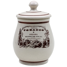 "Pipe Accessories Savinelli Medium Antique Ceramic ""Tobacco & Segars"" Tobacco Jar"