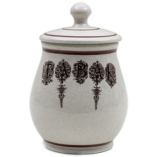 "Pipe Accessories Savinelli Medium Antique Ceramic ""Tabak"" Tobacco Jar"