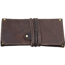 Pipe Accessories Brown Folding 1 Pipe Pouch