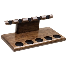 Pipe Accessories Neal Yarm Tilt Head 5 Pipe Stand Walnut