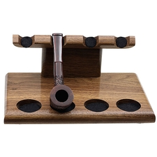 Pipe Accessories Neal Yarm 4 Pipe Stand Walnut
