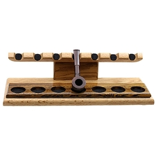 Pipe Accessories Neal Yarm 7 Pipe Stand Oak with Bocote Strip