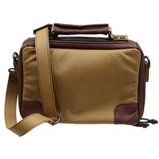 Pipe Accessories Claudio Albieri Italian Leather 4 Pipe Bag Tan/Chestnut