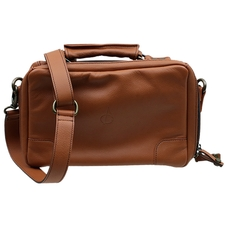 Stands & Pouches Claudio Albieri Italian Leather 4 Pipe Bag Russet