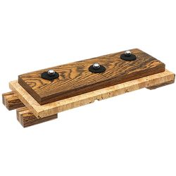 Pipe Accessories Neal Yarm Exotics Bocote/Maple Burl 3 Pipe Stand