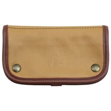 Pipe Accessories Claudio Albieri Italian Leather Tobacco Pouch Deluxe Tan/Chestnut