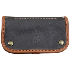 Pipe Accessories Claudio Albieri Italian Leather Tobacco Pouch Deluxe Chocolate/Acorn