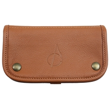 Pipe Accessories Claudio Albieri Italian Leather Tobacco Pouch Deluxe Russet