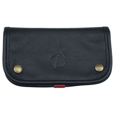 Pipe Accessories Claudio Albieri Italian Leather Tobacco Pouch Deluxe Black/Red