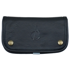 Pipe Accessories Claudio Albieri Italian Leather Tobacco Pouch Deluxe Black/Blue