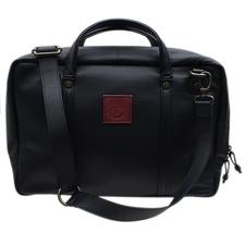 Pipe Accessories Claudio Albieri Italian Leather Laptop plus tablet Black/Burgundy