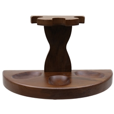 Pipe Accessories Teakwood 3 Pipe Stand