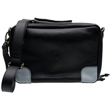 Pipe Accessories Claudio Albieri Italian Leather Elegance 4 Pipe Bag Black/Blue