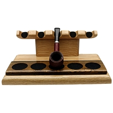 Pipe Accessories Neal Yarm 5 Pipe Stand Oak with Bocote Strip