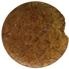 Pipe Accessories Scott Tinker 7 Inch Sandblasted Maple Burl Tobacco Plate
