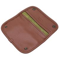 Pipe Accessories Claudio Albieri Italian Leather Tobacco Pouch Deluxe Olive/Chestnut