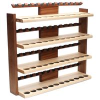 Pipe Accessories Neal Yarm 48 Pipe Four Tier Pipe Stand Mahogany and Maple