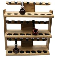 Pipe Accessories Neal Yarm 21 Pipe Three Tier Pipe Stand Oak