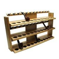Pipe Accessories Neal Yarm 36 Pipe Three Tier Pipe Stand Oak