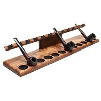 Pipe Accessories Neal Yarm Tilt Head 12 Pipe Stand Mahogany