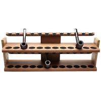 Pipe Accessories Neal Yarm 24 Pipe Two Tier Pipe Stand Mahogany and Maple Burl