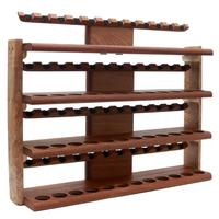 Stands & Pouches Neal Yarm 48 Pipe Four Tier Pipe Stand Mahogany and Stained Maple