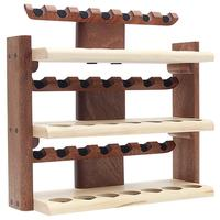 Pipe Accessories Neal Yarm 21 Pipe Three Tier Pipe Stand Mahogany and Maple