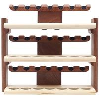 Stands & Pouches Neal Yarm 21 Pipe Three Tier Pipe Stand Mahogany and Maple