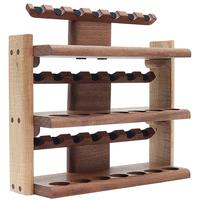 Pipe Accessories Neal Yarm 21 Pipe Three Tier Pipe Stand Mahogany and Stained Maple