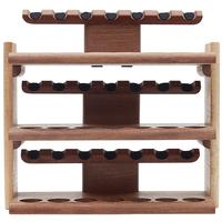 Stands & Pouches Neal Yarm 21 Pipe Three Tier Pipe Stand Mahogany and Stained Maple