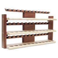 Pipe Accessories Neal Yarm 36 Pipe Three Tier Pipe Stand Mahogany and Maple
