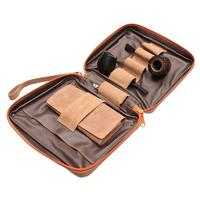 Pipe Accessories Erik Stokkebye 4th Generation 4 Pipe Combo Pouch Hunter Brown