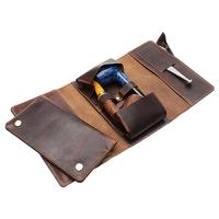 Pipe Accessories Chacom Leather Two Pipe Roll Brown