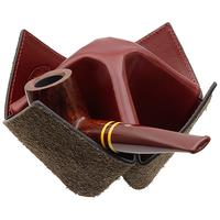 Pipe Accessories Savinelli Origami 4 Pipe Holder - Red/Suede Brown
