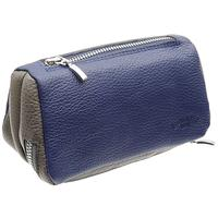 Stands & Pouches Savinelli Leather 2 Pipe and Tobacco Bag - Blue/Grey