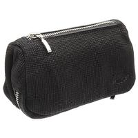 Stands & Pouches Savinelli Leather 2 Pipe and Tobacco Bag - Black Weave