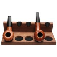 Pipe Accessories Neal Yarm Solid Back 5 Pipe Stand Mahogany