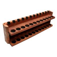 Pipe Accessories Neal Yarm Solid Back 24 Pipe Two Tier Stand Mahogany and Maple