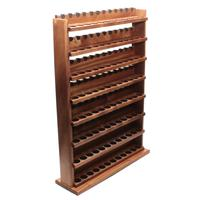 Stands & Pouches Neal Yarm Solid Back 96 Pipe Eight Tier Stand Mahogany