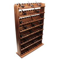 Pipe Accessories Neal Yarm Solid Back 96 Pipe Eight Tier Stand Mahogany