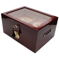 Humidors & Travel Cases Savoy Mahogany Glass Top Extra Large Humidor
