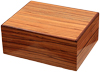 Cigar Accessories Savoy Zebrawood Medium Humidor