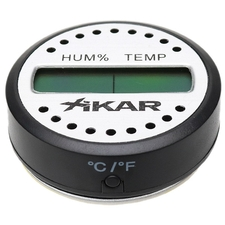 Cigar Accessories Xikar Round Digital Hygrometer Thermometer