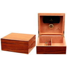 Cigar Accessories Savoy Zebrawood Small Humidor