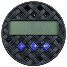 Cigar Accessories Brigham Round Digital Hygrometer